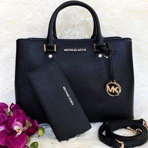 NWT Michael Kors Savannah Satchel & Wallet